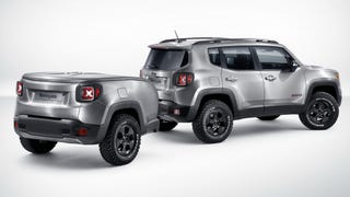 Bad Ass Brushed-Steel 2015 Jeep Renegade Has A Perfect Mini-Me Trailer