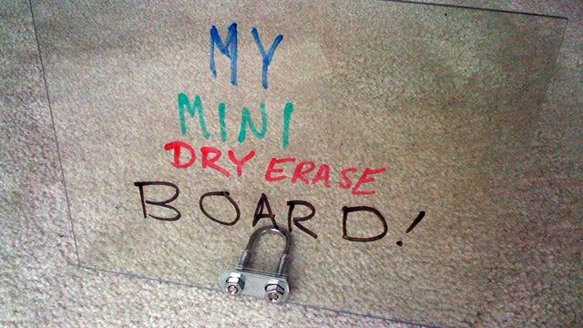 Make a Transparent Dry Erase Board for less than $6