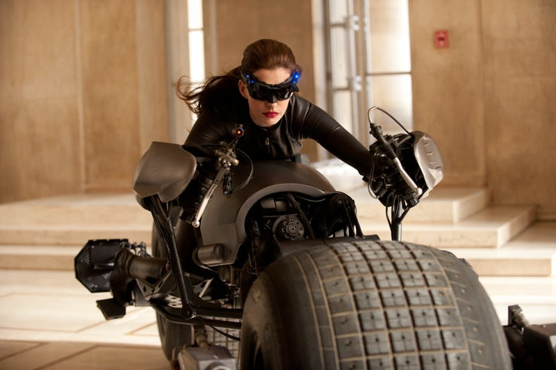 Meow! The first official photo of Anne Hathaway as Catwoman in The Dark Knight Rises
