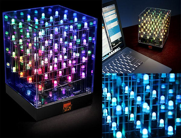 LED Cube Colorfully Assimilates Desktops