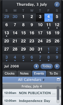 Organized Widget Gives Quick Access to Calendars and To-Dos