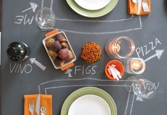 Turn Cheap Furniture into a Chalkboard Table