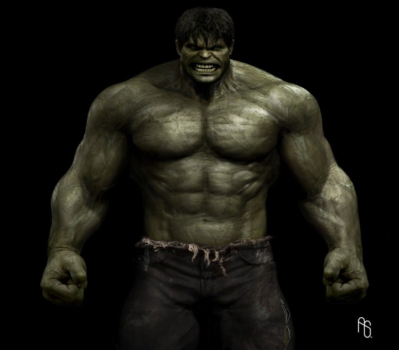 Incredible Hulk Concept Art by Aaron Sims