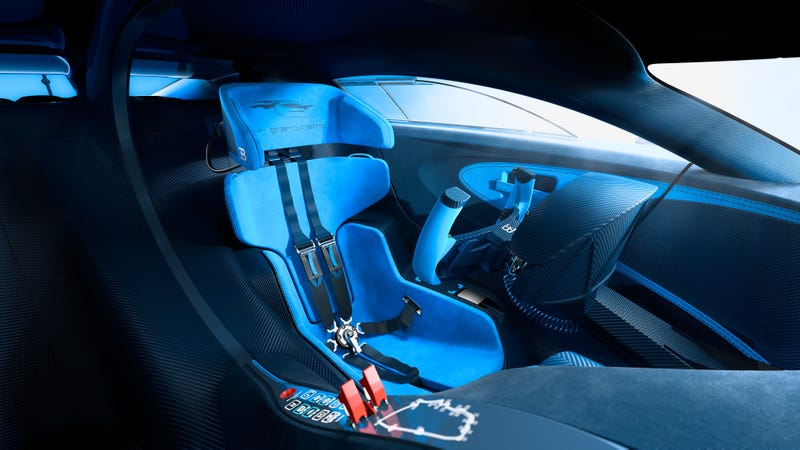 'Bugatti Vision Gran Turismo Concept: The Future Of Bugatti Looks Terrifyingly Awesome' from the web at 'http://i.kinja-img.com/gawker-media/image/upload/s--rH6MUJ8Y--/c_scale,fl_progressive,q_80,w_800/1430362453914479912.jpg'