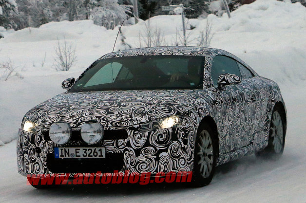 Audi TT prototype spied wearing rally lights