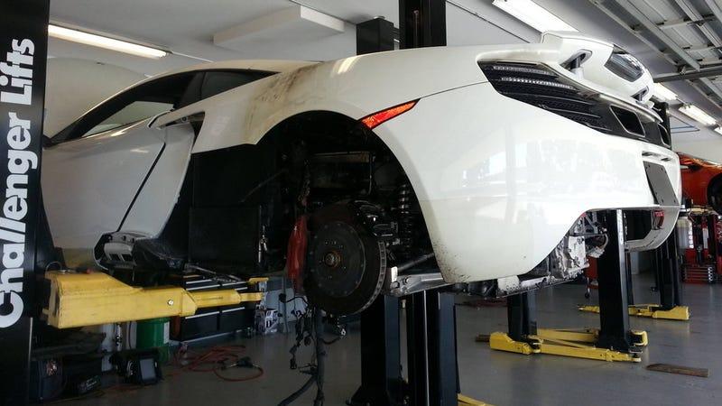 McLaren 12C Copies Ferrari And Catches On Fire