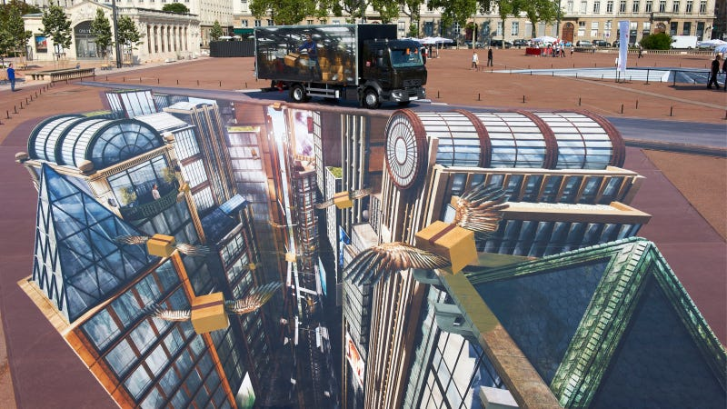 Check Out These Crazy 8-Billion Pixel Works Of 3D Street Art