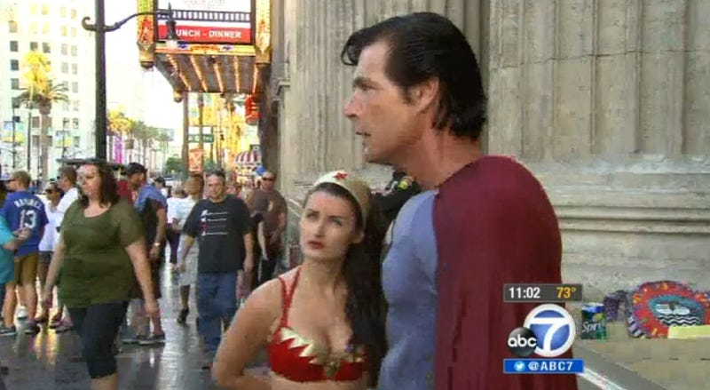 Woman Dressed as Wonder Woman Saved from Assault by 'Superman'