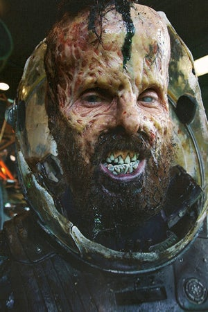 Rejected Prometheus concept art shows the melted character faces that could have been