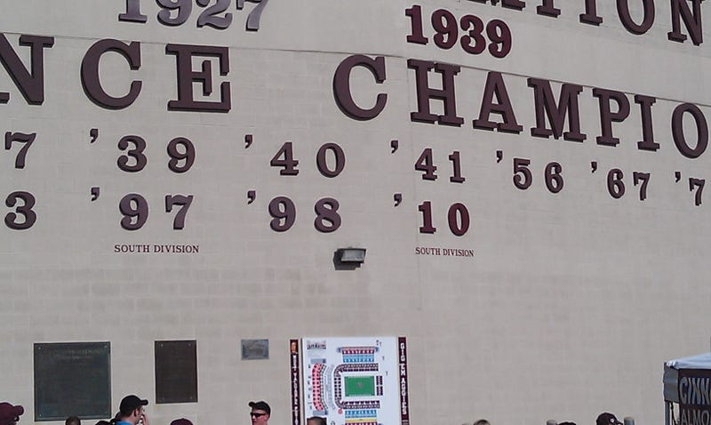 Texas A&M Has Added Fine Print To Those Conference Championships It Invented Over The Summer