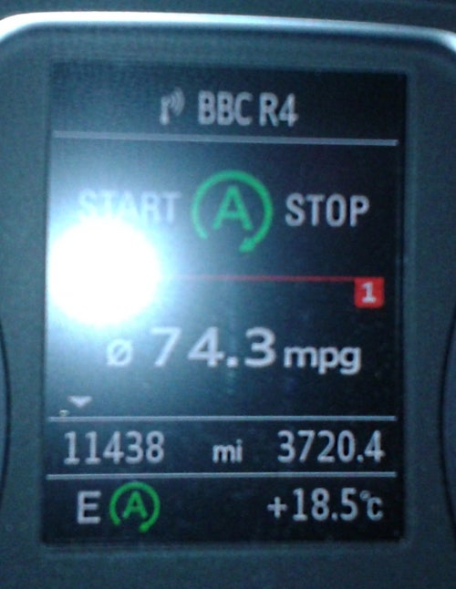 Manufacturers stated MPG beaten