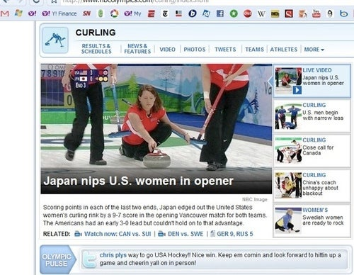 NBCOlympics.com's Headline For Japan's Win Over U.S. In Curling