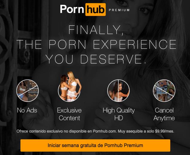 Pornhub se pasa a un modelo premium de pago al estilo Spotify