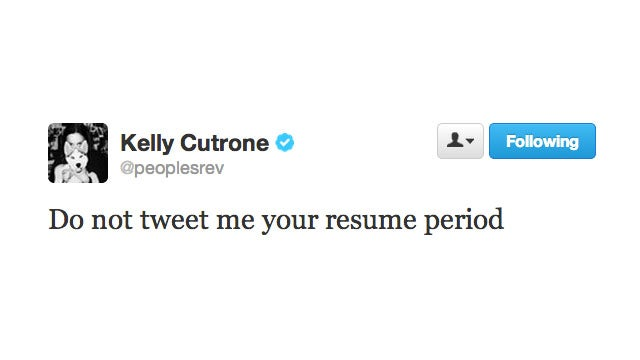 If You Want a Job at People's Revolution, You Probably Shouldn't Tweet Your Resume
