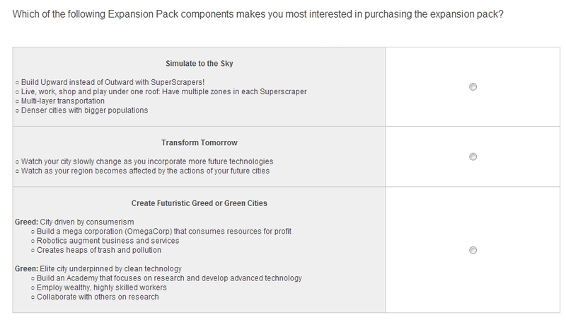 SimCity Survey Gropes About For Ways To Keep Folks Playing