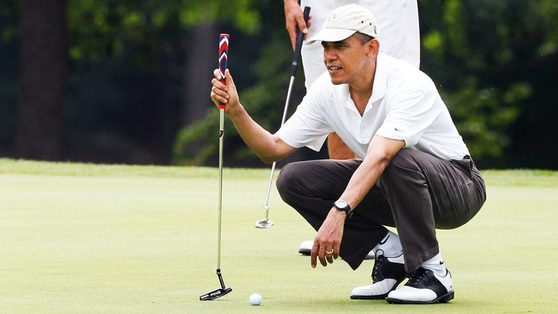 Did the Earthquake Make Obama Miss a Golf Putt?