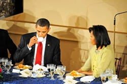 Weirdly Breathless Account Of Obama Dinner Menu Assures Us That No Detail Will Go Unreported!