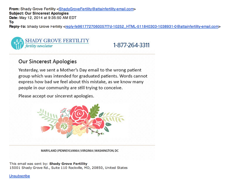 Fertility Clinic Sends Out Accidental Congratulations to Non-Moms
