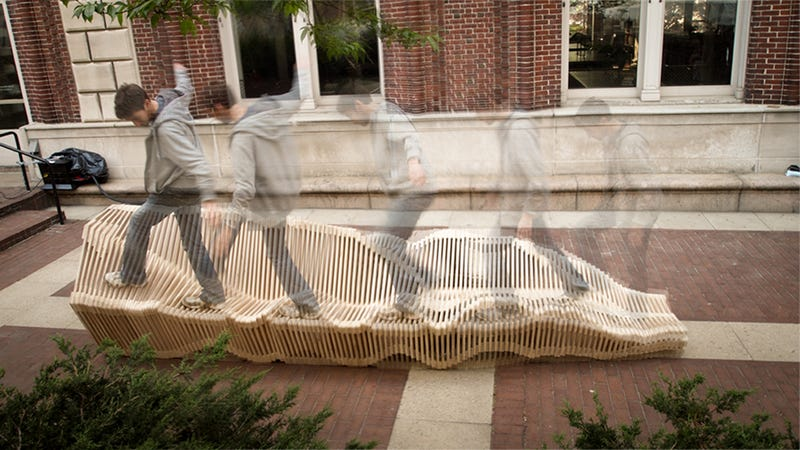 The Polymorphic Bench at Gizmodo Gallery