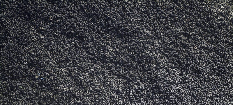 Fascinating aerial photo of a tire dump yard