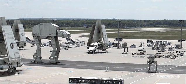 Star Wars video transforms real world airport into Imperial base