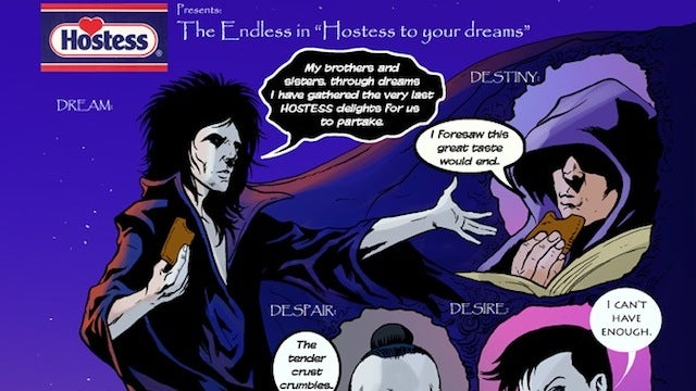The Hostess Fruit Pie ad Sandman and the Endless never made