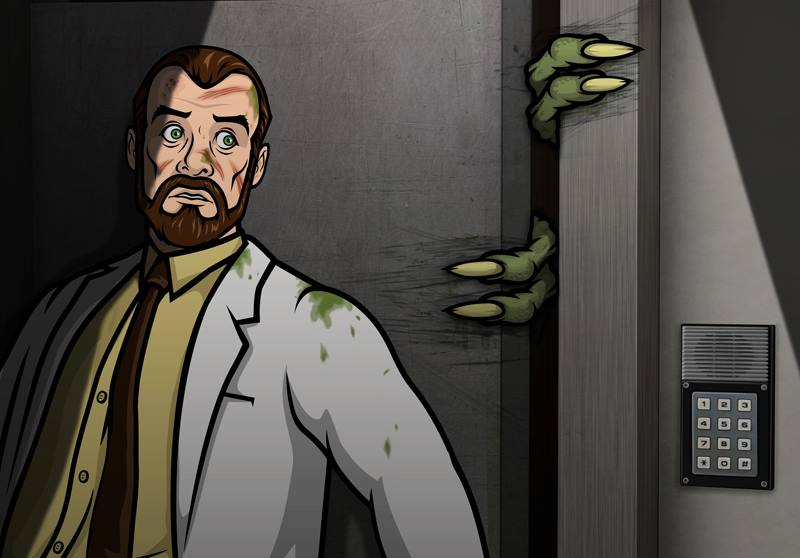 Archer's Dr. Krieger builds a clone army. It doesn't go well.