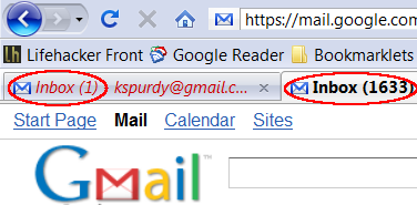 Gmail Puts Unread Message Counts First in Tabs, Title Bars