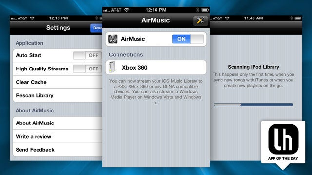 AirMusic Streams Your iPhone's Music Library to Your Xbox, PS3, and More