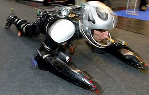 Video of Rollerman Racing Against 600cc Sportbike (Spoiler: He Wins)