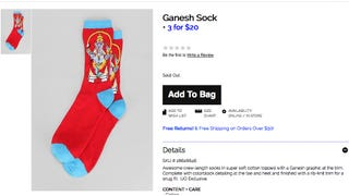 Urban Outfitters, Ever Insensitive, Pulls Offensive Ganesh Socks