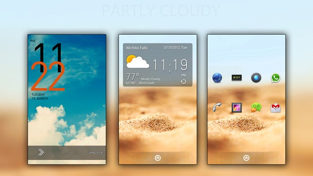 The Partly Cloudy Home Screen