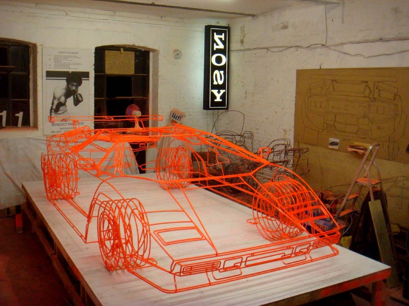 Artist Creates Wireframe Lamborghini Countach