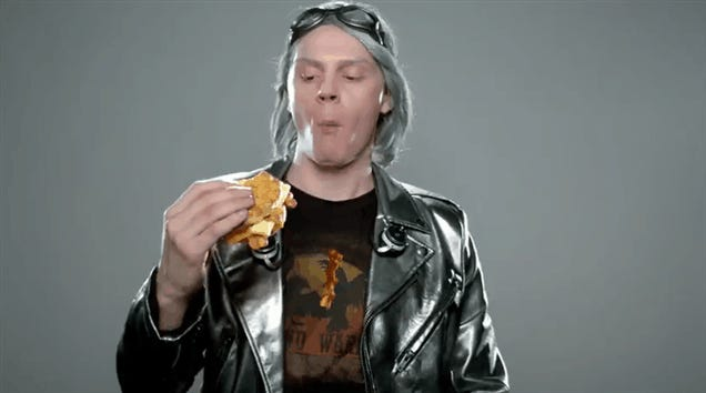 And Then X-Men's Quicksilver Ate A Carl's Jr. Biscuit Really Fast