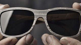 These Wood Grain Sunglasses Are Actually Made From Recycled Newspapers