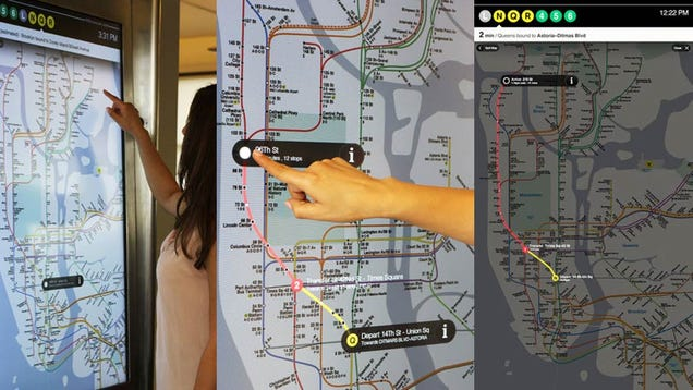 New York City Is Getting Futuristic Touchscreen Subway Maps