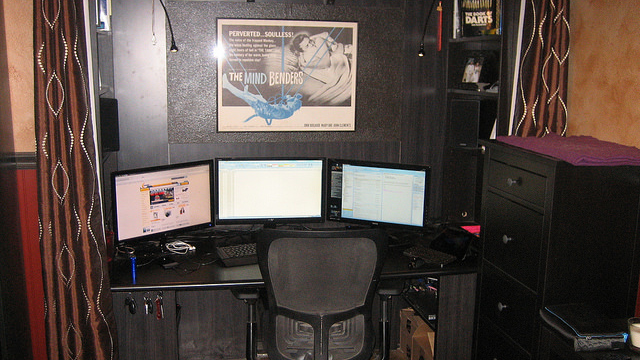 The Dark Alcove Workspace