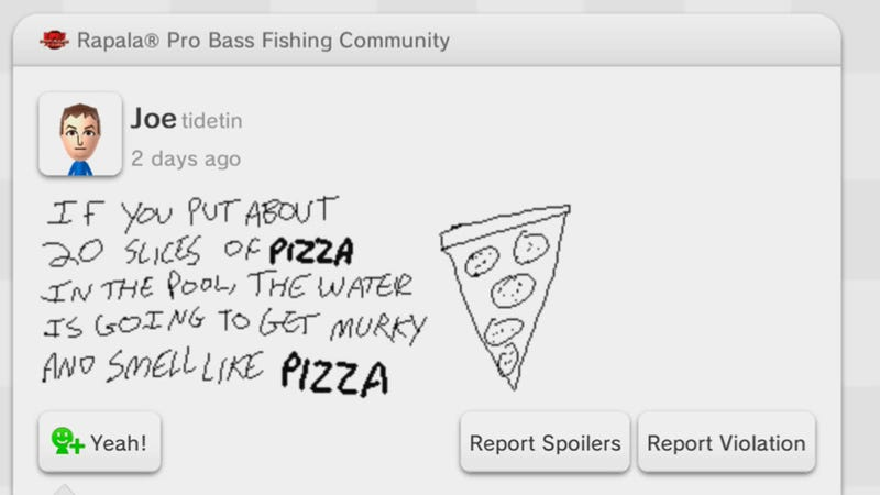 Miiverse Moments: Pro Bass Pizza Wisdom