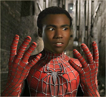 Donald Glover for Spider-Man: The evolution of a meme