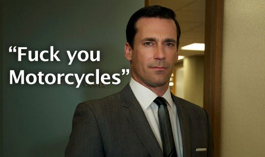 Jon Hamm Vents His Anti-Motorcycle Bias