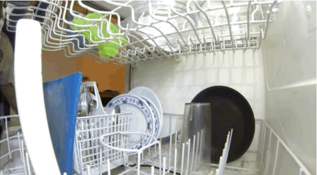 What Does A Running Dishwasher Look Like On The Inside?