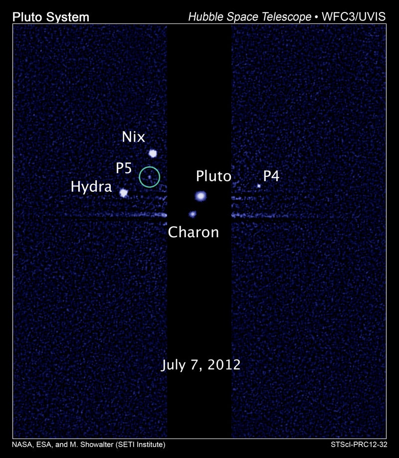 Astronomers discover a fifth moon orbiting Pluto