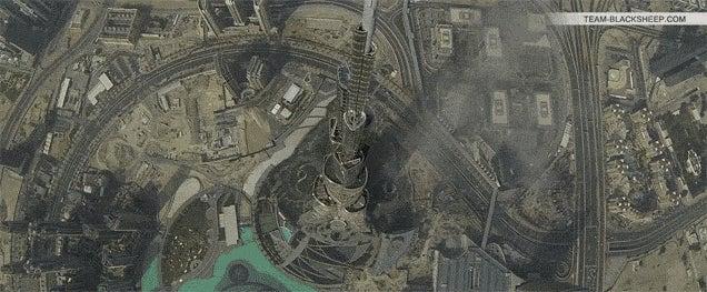 Watch a drone fly over the Burj Khalifa and Dubai