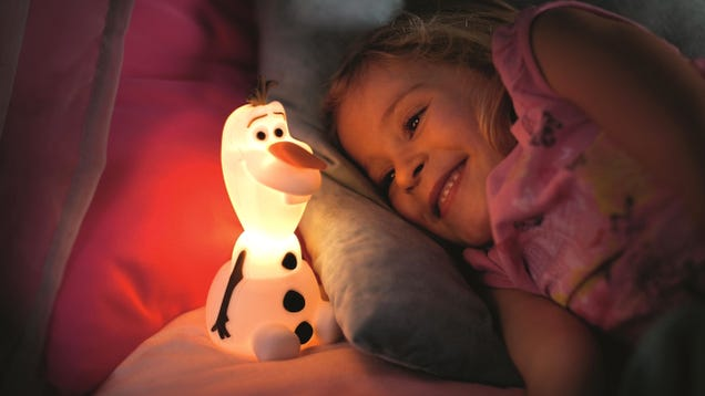 Philips' New Lights Are Glowing Versions Of Elsa, Olaf, and Spider-Man