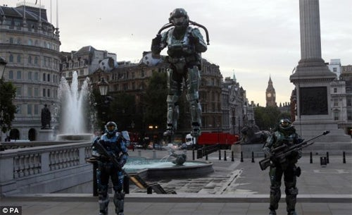 Halo: Reach Launches Jet Packs In Trafalgar Square