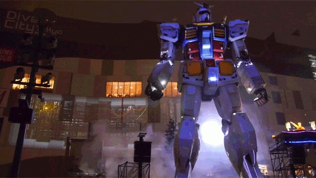 Giant Gundam Made Even Better with Projection Mapping