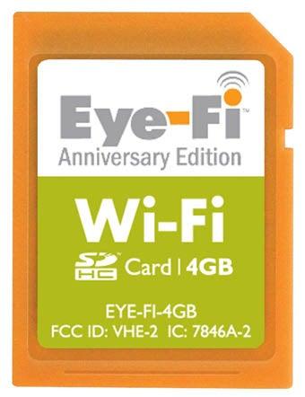 Eye-Fi Anniversary Edition, 4GB Card for $100