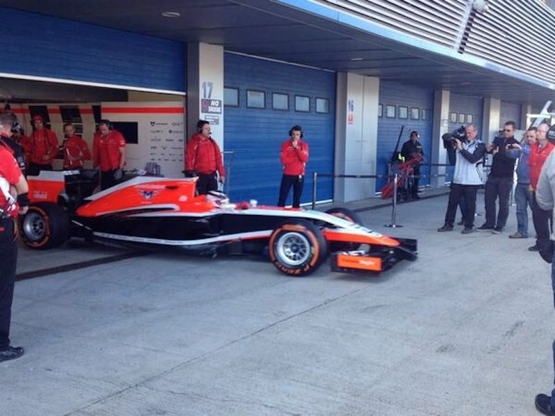 Suddenly, a wild Marussia appears.