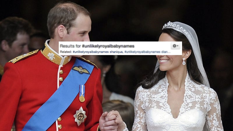 Thousands of Twitter Idiots Agree that Will and Kate Won't Name Their Baby 'Shaniqua'