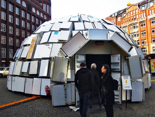 Would a Bottle of Milk Still Go Off in an Igloo Made From 322 Fridges?